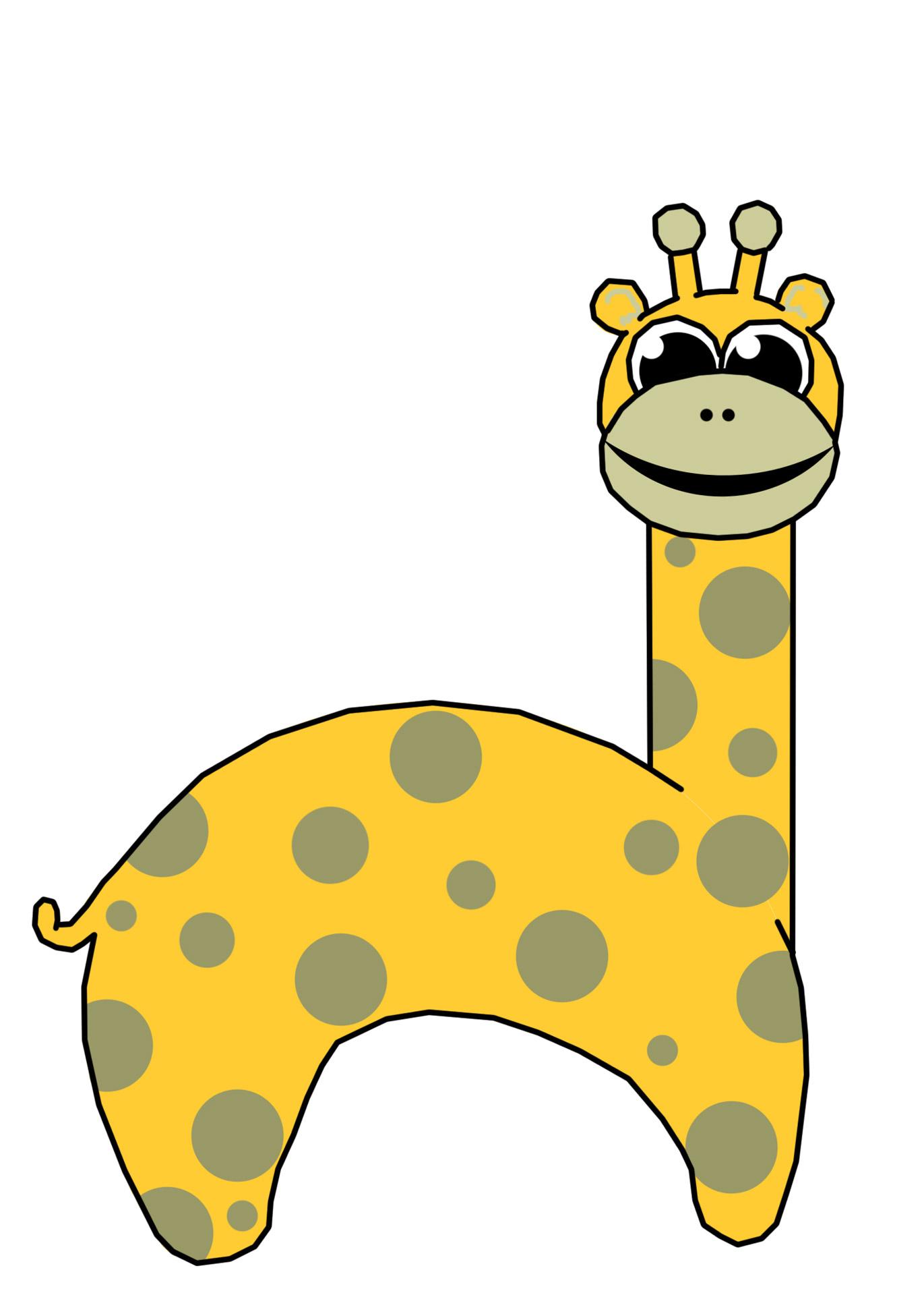 1371x1920 Giraffe Clip Art Free Stock Photo