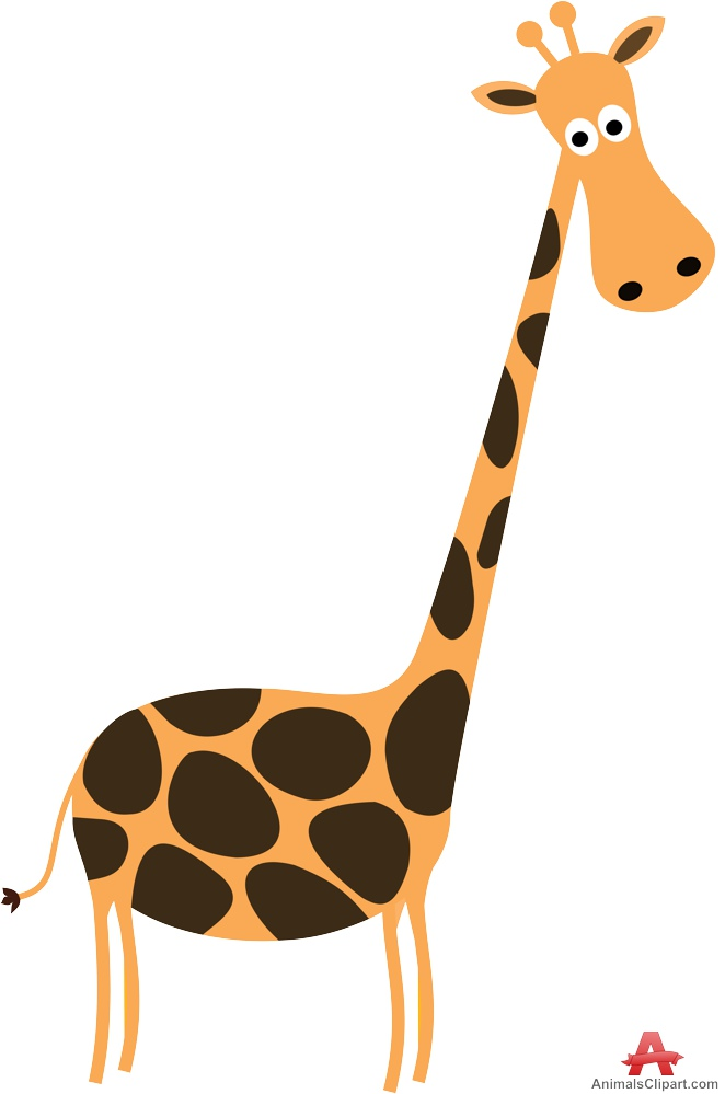 662x999 Giraffe With Long Neck Clipart Free Design Download