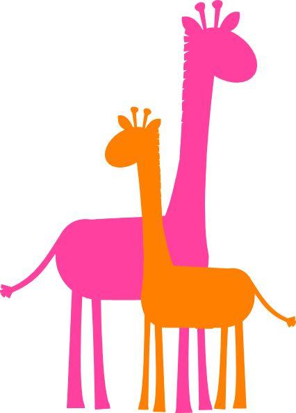 426x594 Giraffe Clipart Colorful