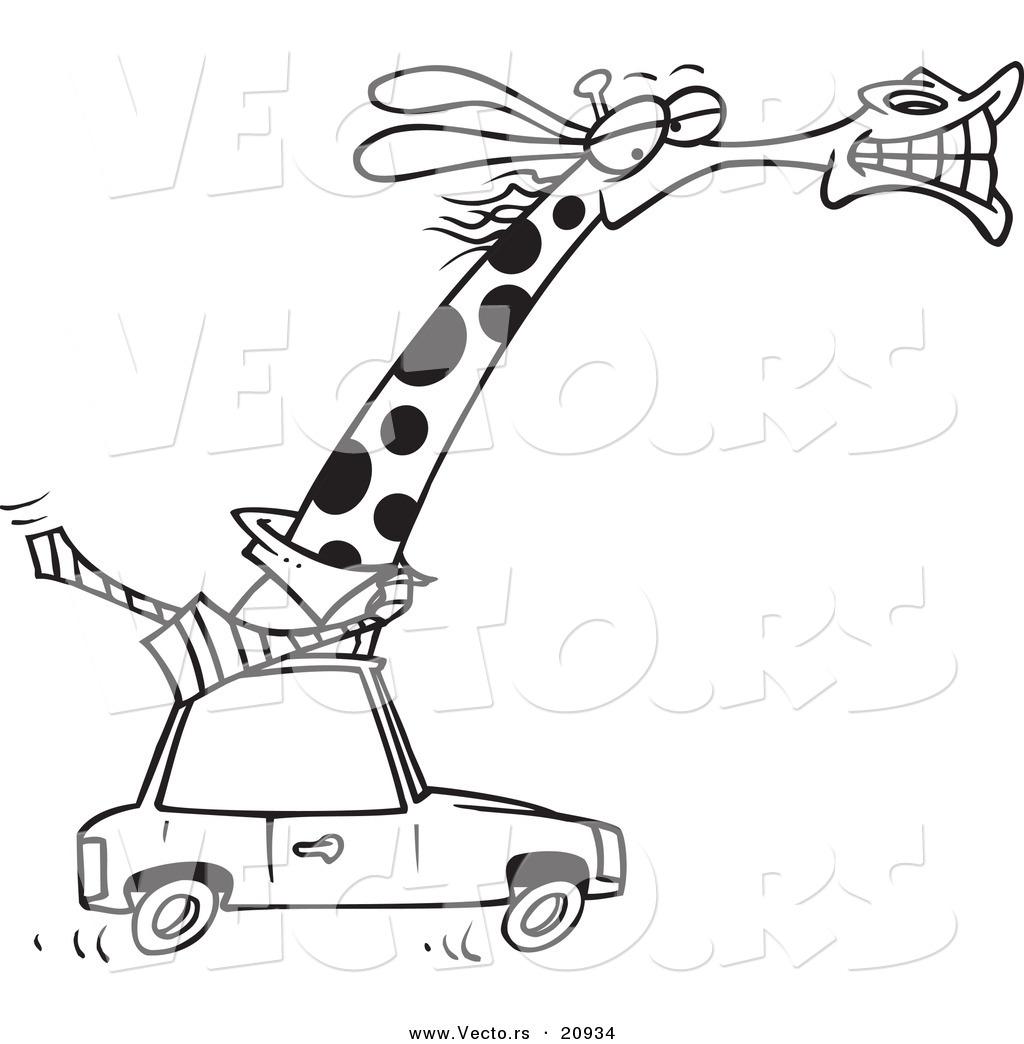 1024x1044 Vector Of A Cartoon Business Rhino Commuting By Car