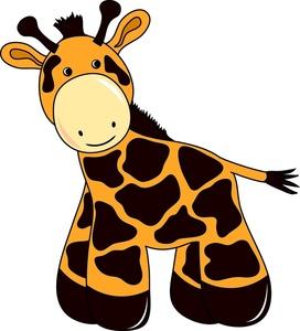 272x300 Giraffe Clipart Outline Giraffe Head No Body