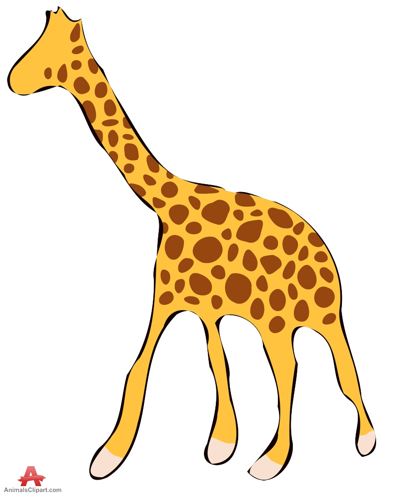 792x999 Colored Giraffe Sketch Clipart Free Clipart Design Download