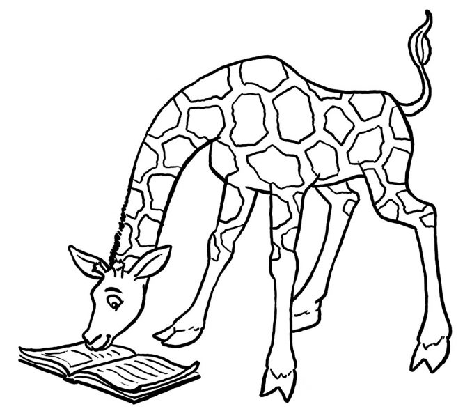 678x600 Coloring Pages For Adults Giraffe Coloring Sheet New On