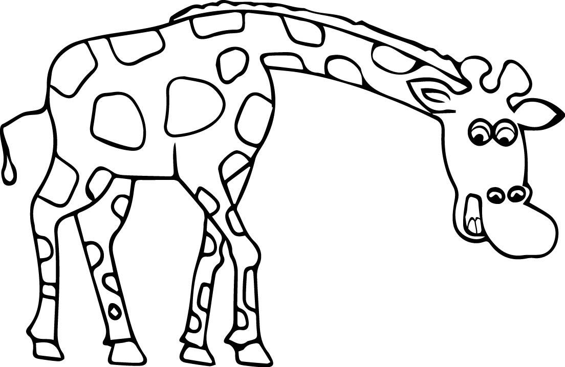 1104x718 Giraffe Coloring Page Wecoloringpage