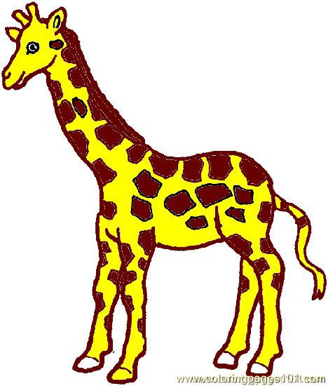 468x550 Giraffe Coloring Page 03