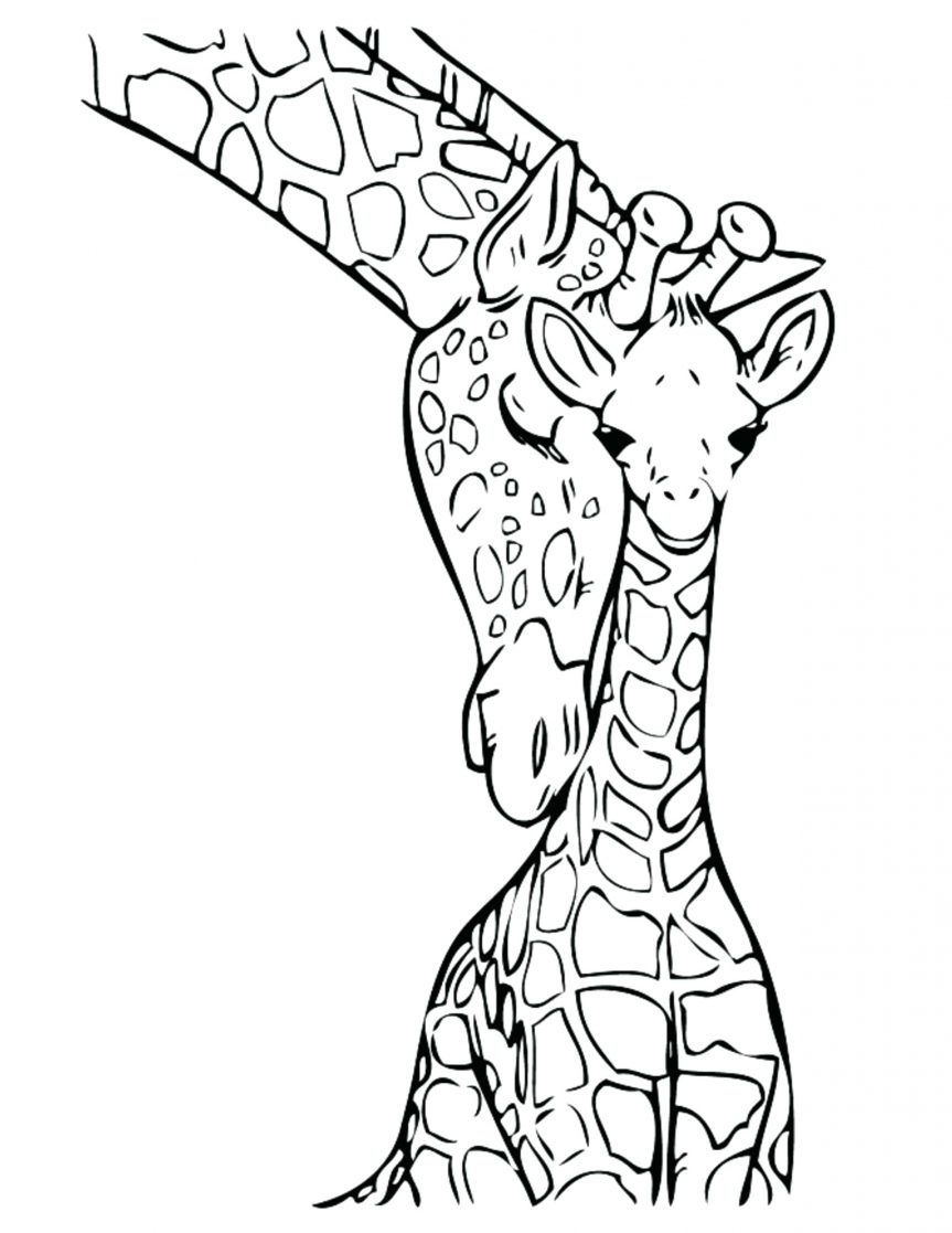 863x1117 Giraffe Coloring Pages Printable Kids Colouring Cute Christmas