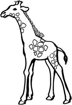 236x342 Free Coloring Book Of Giraffes Cartoon Giraffes Coloring Page
