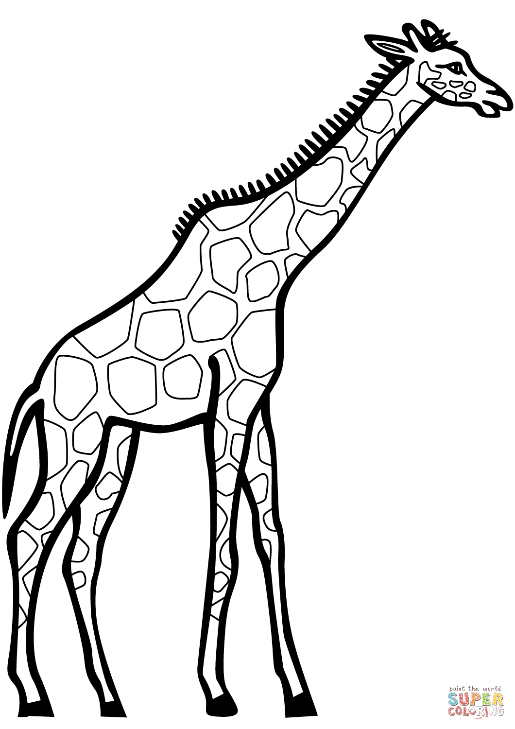 1060x1500 Giraffe Coloring Page Free Printable Coloring Pages