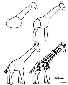 240x300 How To Draw A Giraffe Kids