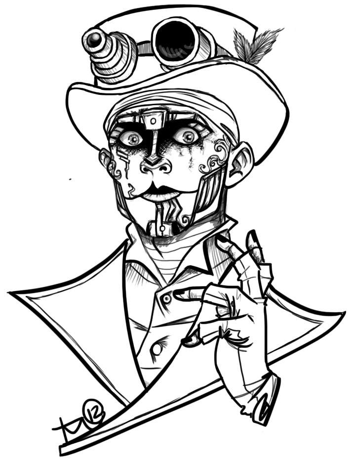 709x929 Steam Powered Giraffe Rabbit Lineart By Terahann