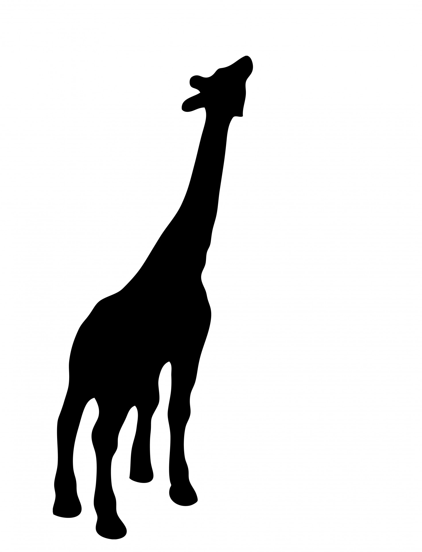 1471x1920 Giraffe Black Silhouette Free Stock Photo