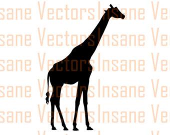 340x270 Giraffe Silhouette Etsy