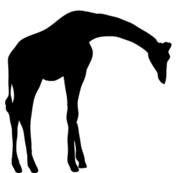 600x587 Silhouette Clipart Giraffe Free Images