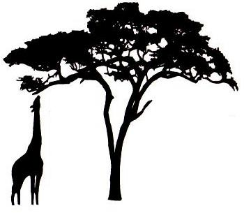 350x305 Best Giraffe Silhouette