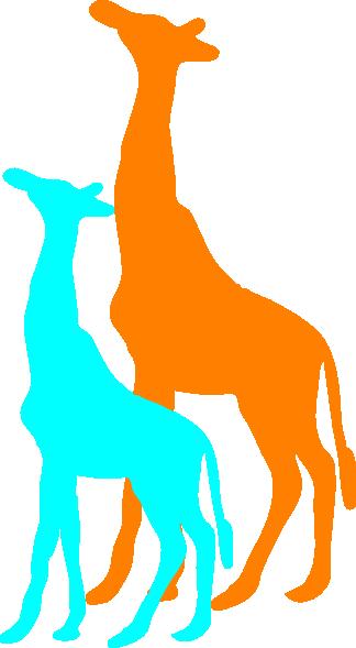 324x589 Giraffe And Baby Giraffe Clip Art