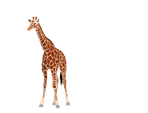 600x459 Giraffe Clip Art