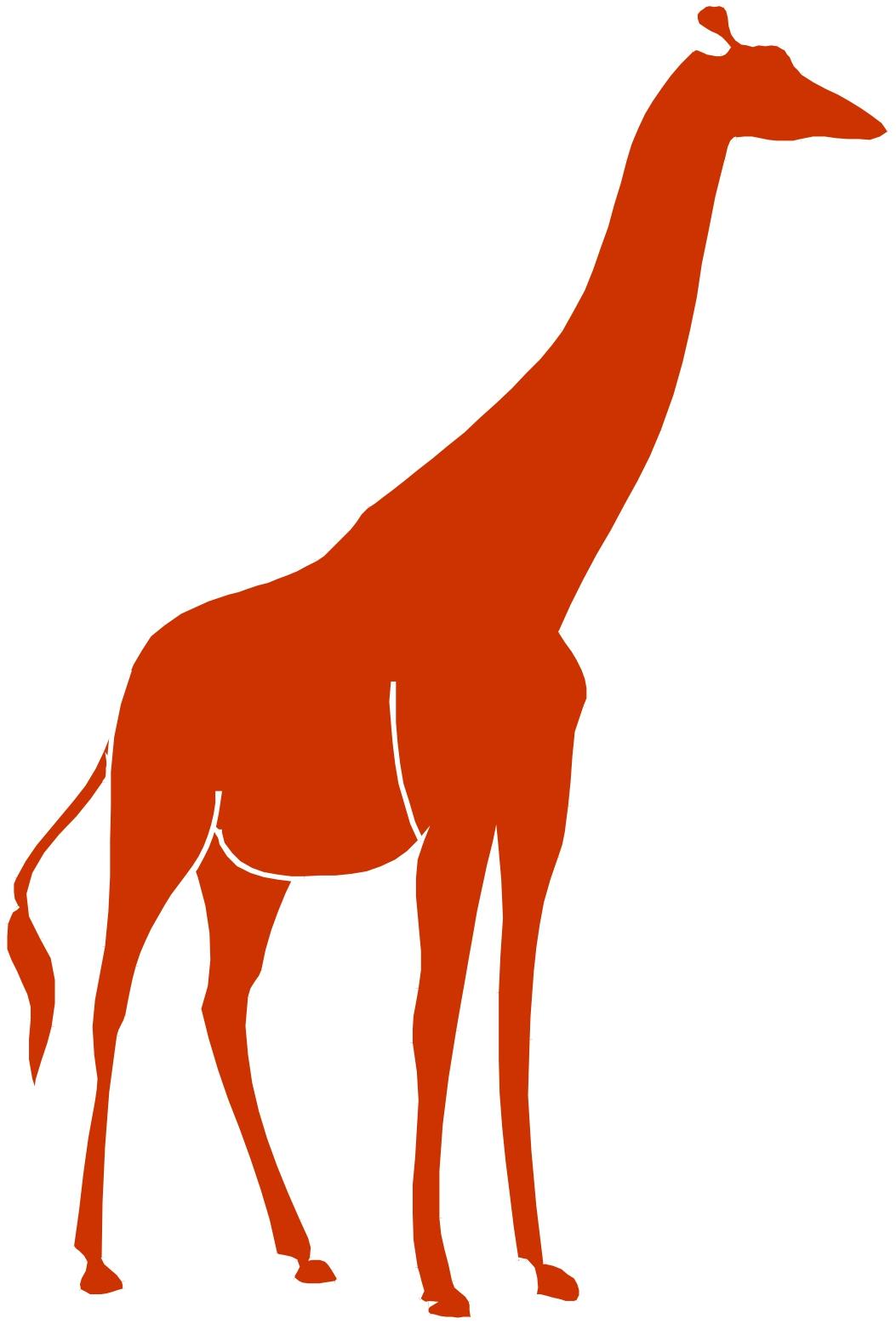 1053x1556 Giraffe Clipart Red