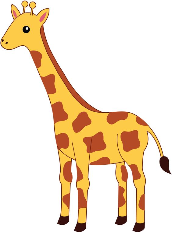 564x762 Giraffe Outline Clip Art Clipart