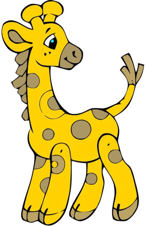 493x768 Image Of Baby Giraffe Clipart