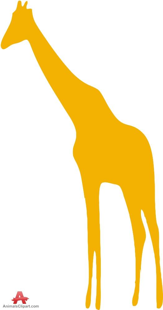 524x999 Orange Giraffe Silhouette Free Clipart Design Download