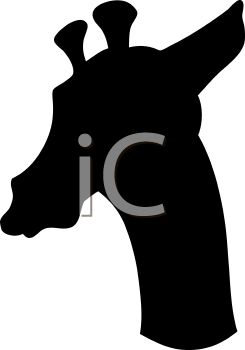 245x350 Royalty Free Clip Art Image Animal Silhouette Of A Giraffe Head