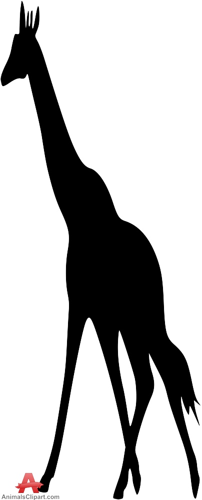 404x999 Tall Giraffe Silhouette Free Clipart Design Download