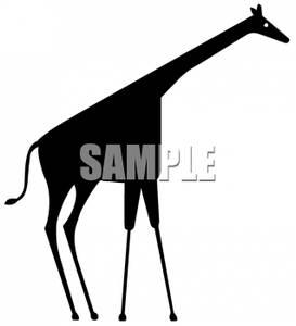 273x300 Art Image Silhouette Of A Giraffe