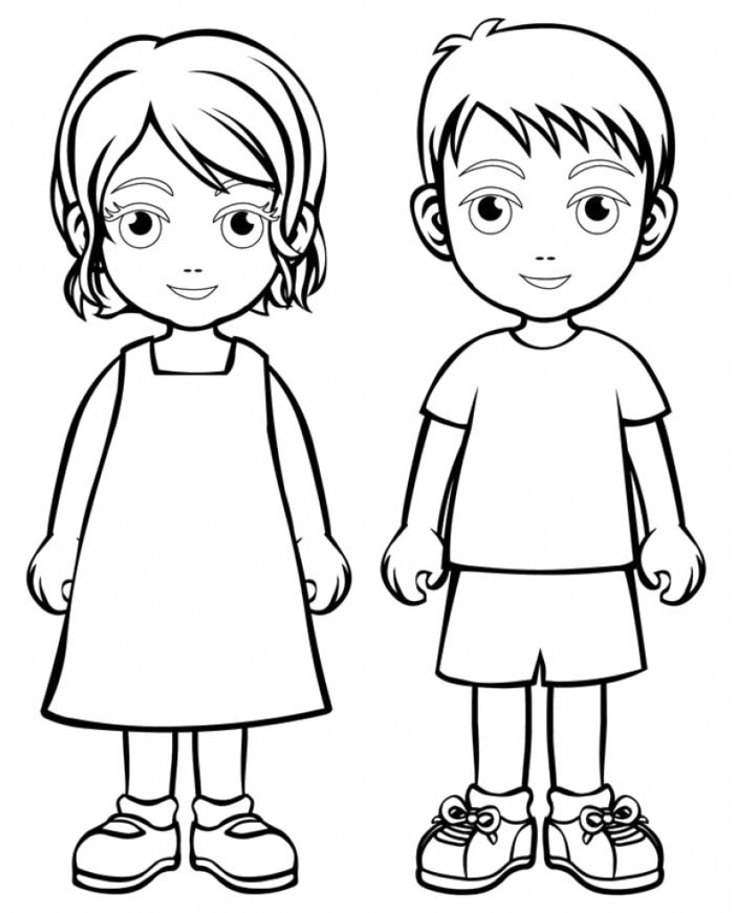 824x1024 Coloring Pages Boy And Girl