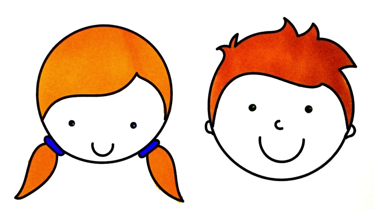 1280x720 how to draw boy and girl face coloring pages faces for kids art