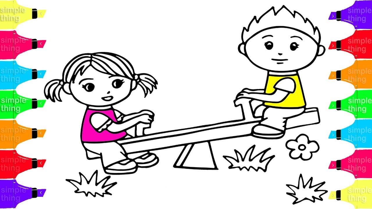 Girl And Boy Drawing For Kids | Free download best Girl And Boy ...