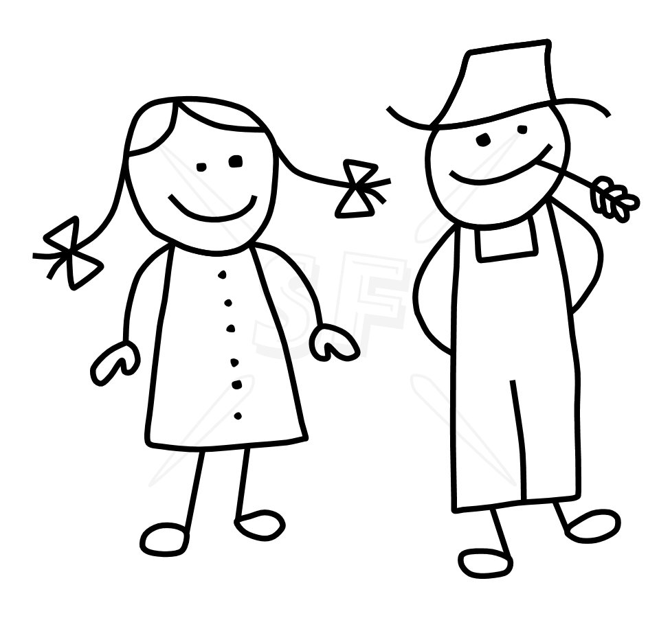 Girl And Boy Drawing For Kids Free Download Best Girl