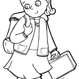 268x268 School Boy Coloring Page Kids Drawing And Coloring Pages