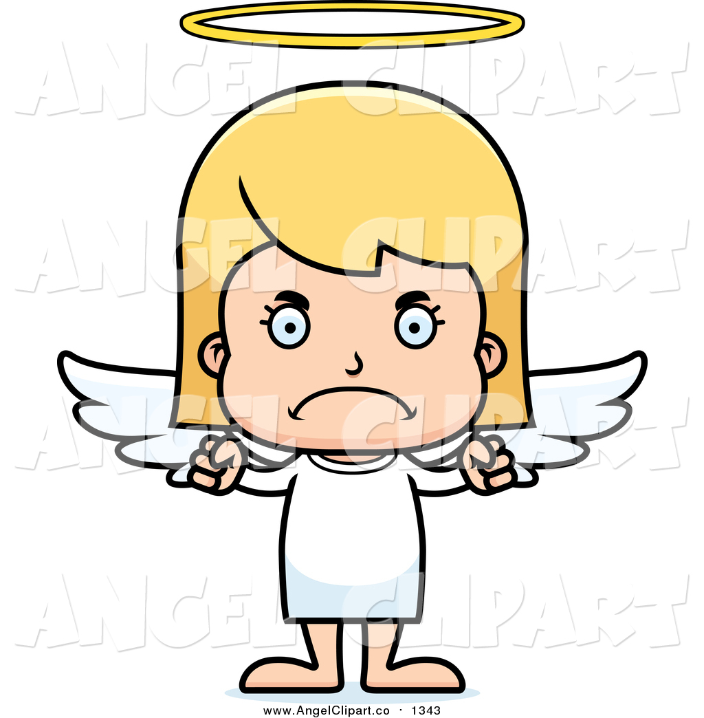 1024x1044 Clip Art Of A Cartoon Mad Blond Caucasian Girl Angel By Cory