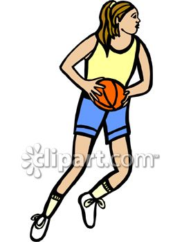 263x350 Girl Shooting Basketball Clipart