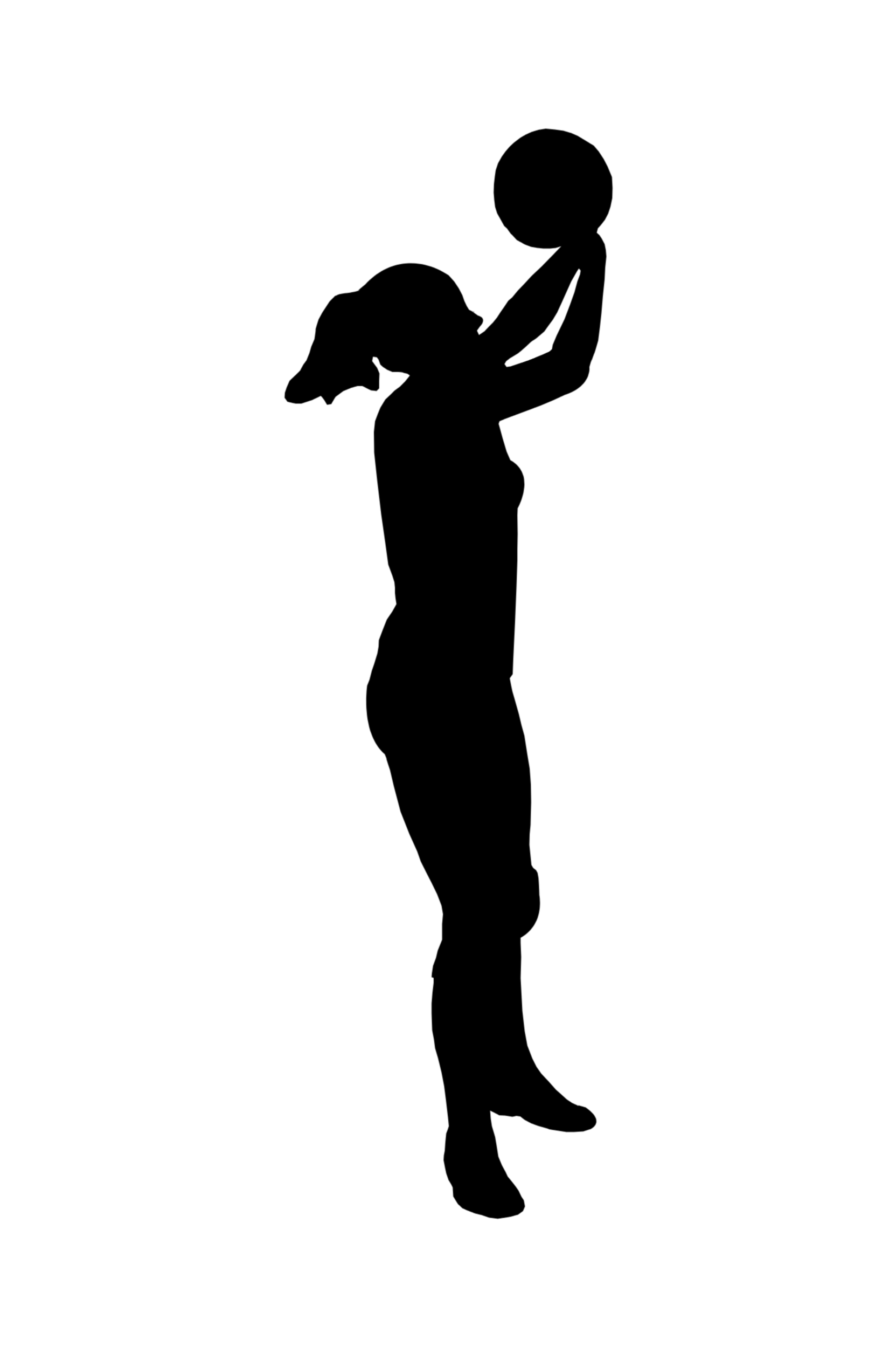 1663x2496 Girls Basketball Clip Art