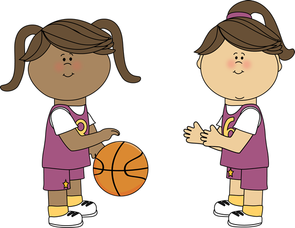 600x465 Girls Playing Basketball Clip Art
