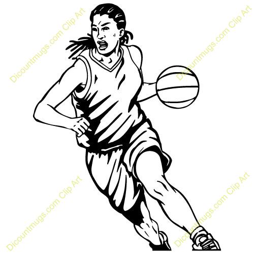 500x500 Womens Basketball Clipart