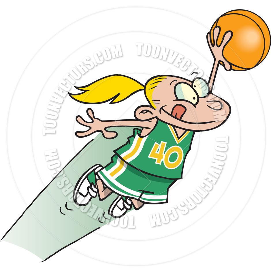 940x940 Cartoon Girl Basketball By Ron Leishman Toon Vectors Eps