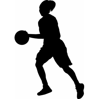320x320 Female Basketball Player Clipart
