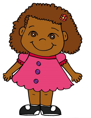 371x480 Girl With Curly Hair Clipart
