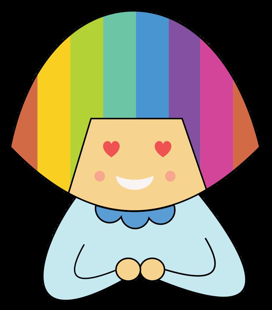 900x1023 Rainbow Hair Clipart
