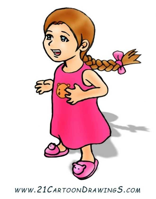 659x839 How To Draw Cartoon Girls With Easy Steps Tutorial For Kids
