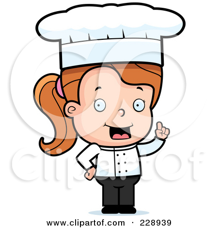 450x470 Girl Chef Clipart