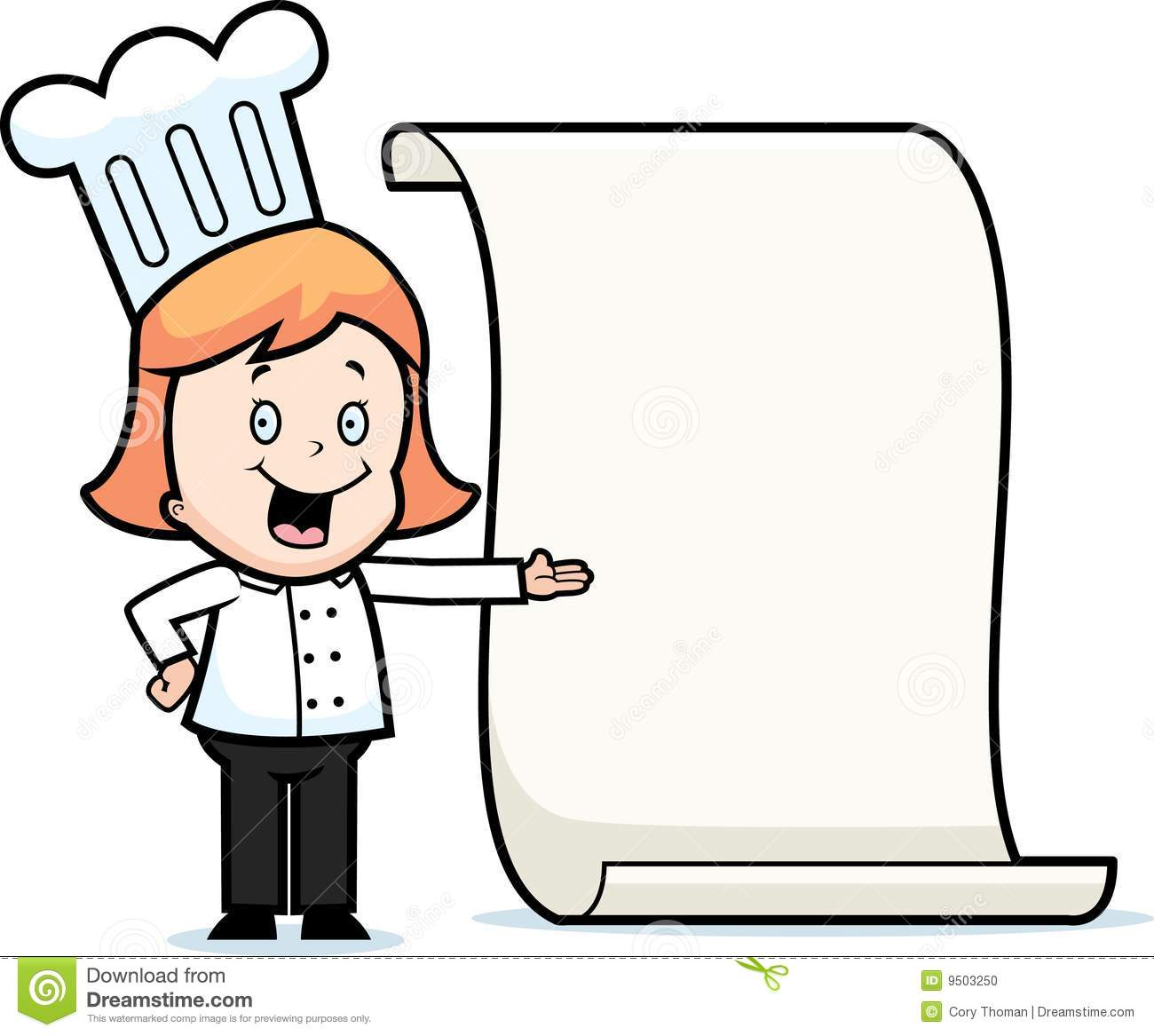 1300x1167 Girl Chef Clipart