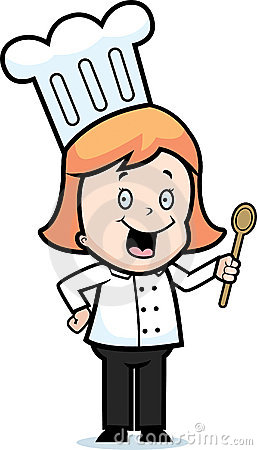 257x450 Girl Chef Clipart