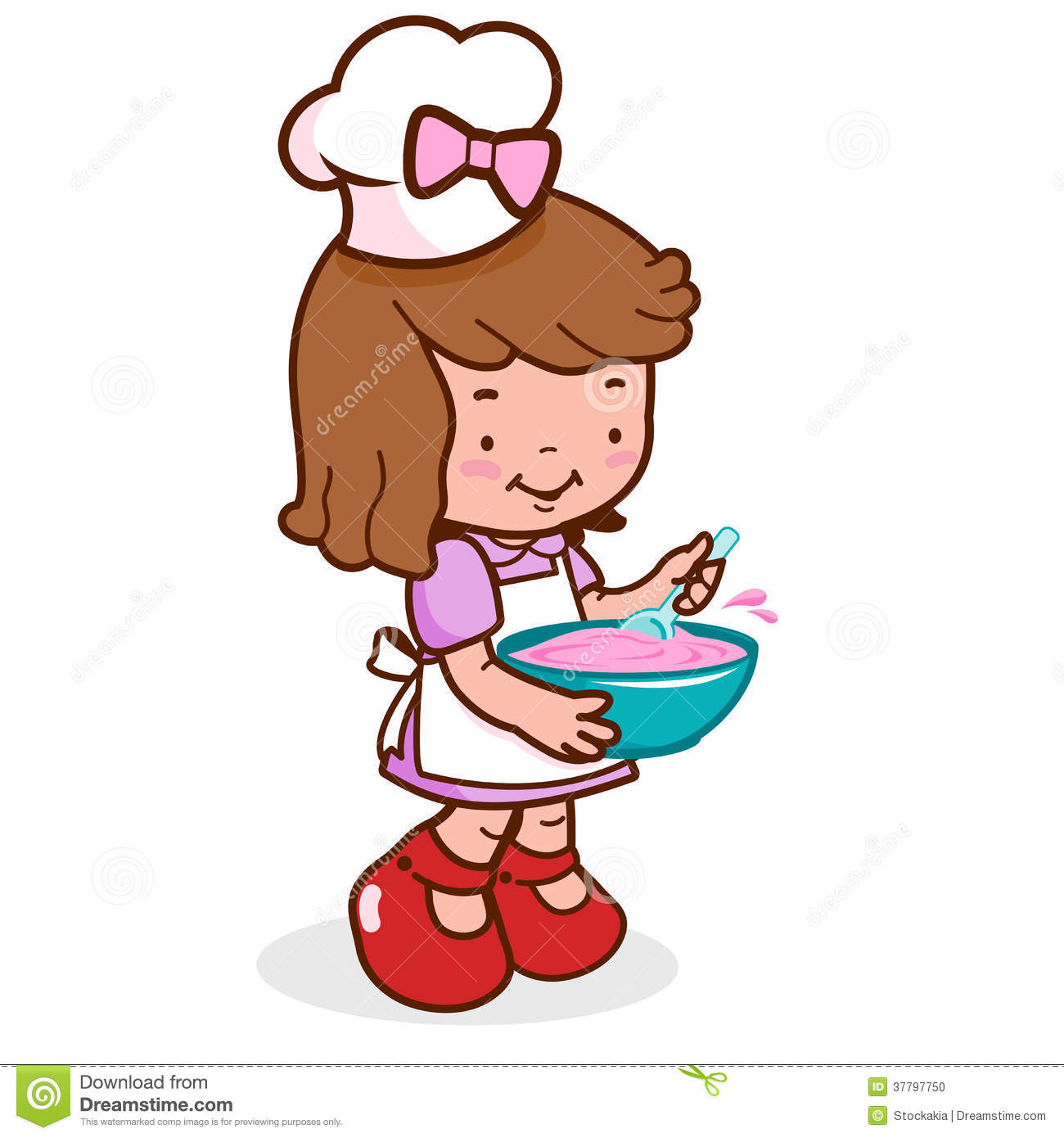 1300x1390 Kitchen Chef Clipart Girl
