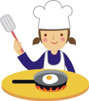 300x340 Little Girl Clipart Cooking