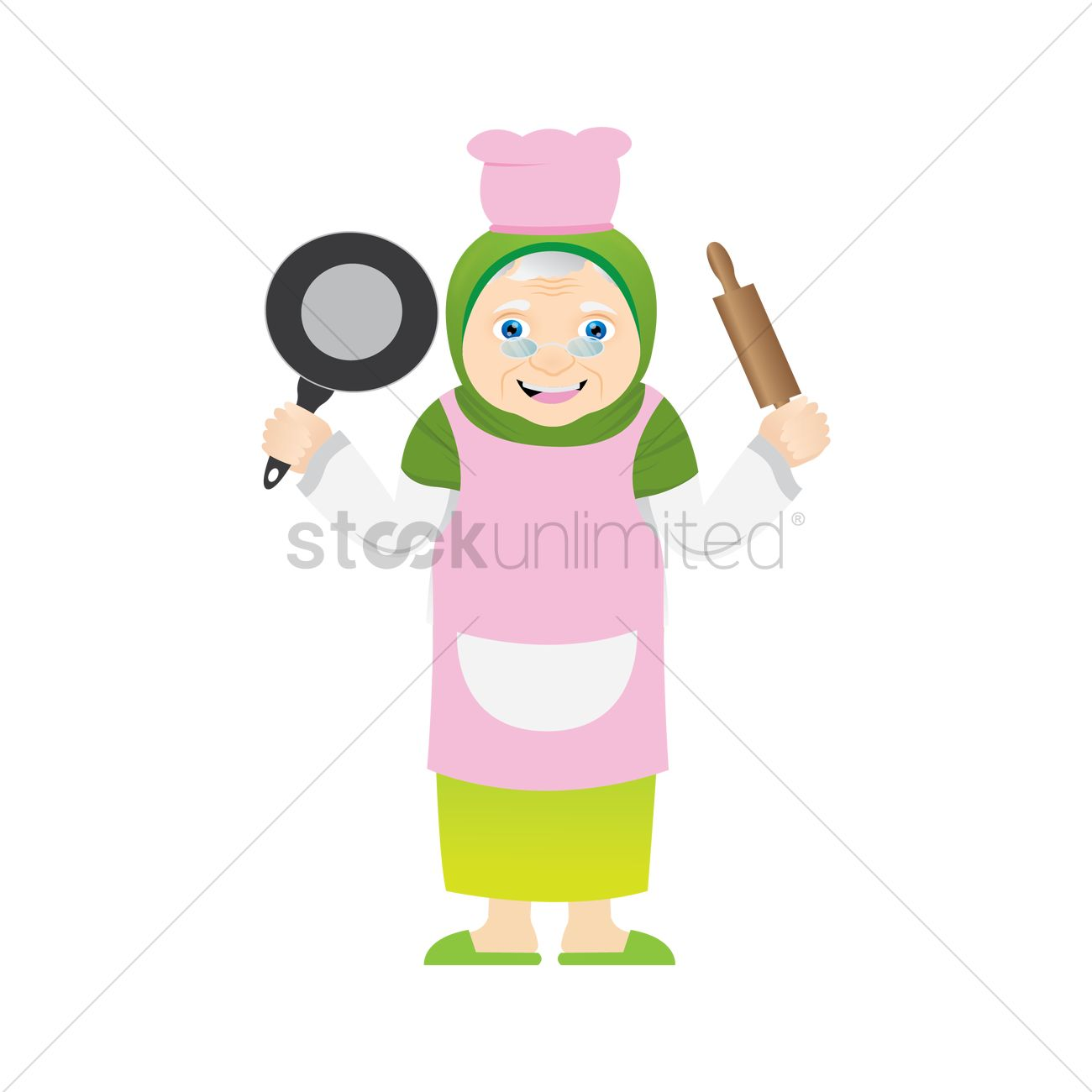 1300x1300 Muslim Woman As A Chef Vector Image