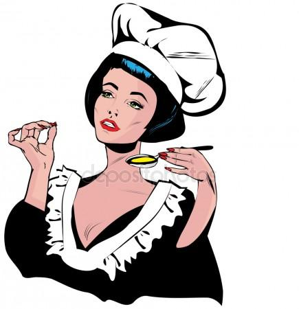435x450 Chef Woman Stock Vectors, Royalty Free Chef Woman Illustrations