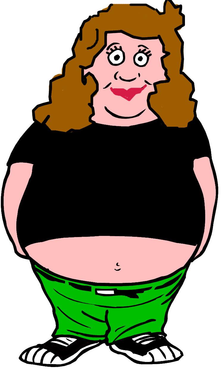 750x1244 Fat Girl Clip Art